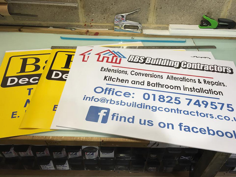 contractors site boards