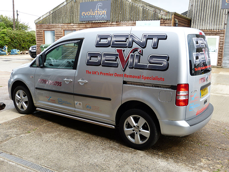 dent devils reflective vehicle signage - digital print