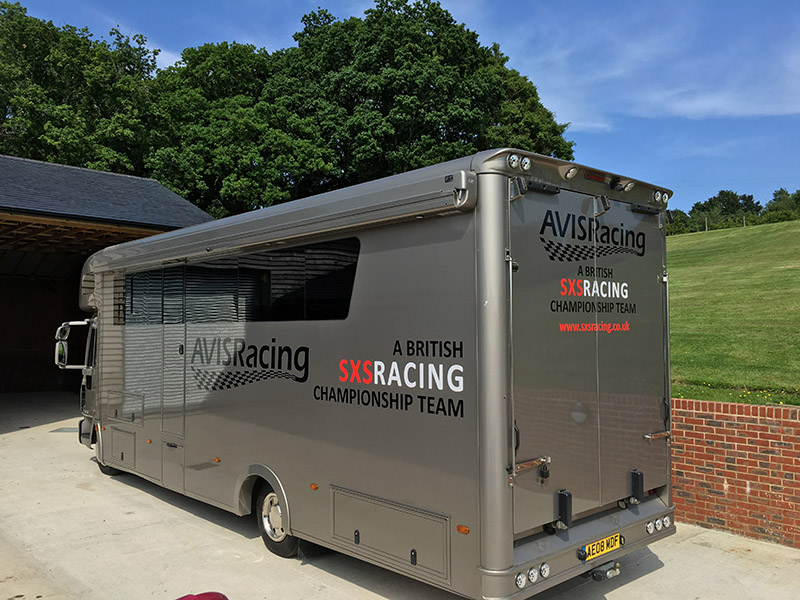 hgv race car transporter cut vinyl