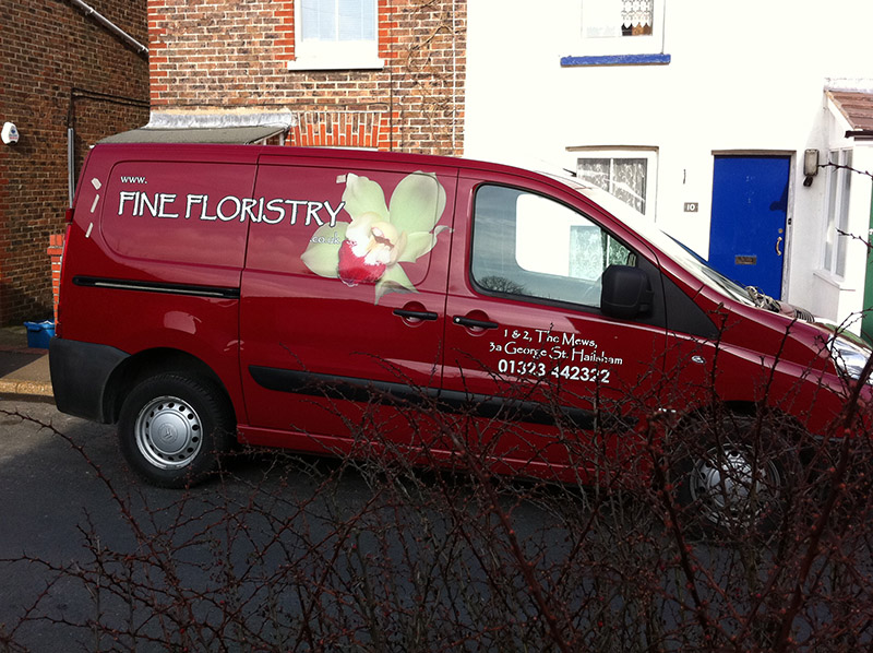 Fine Floristry Vehicle Wrap