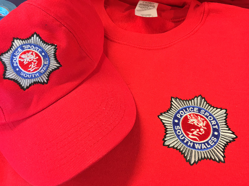 police sport embroidery