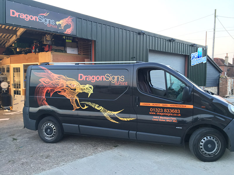 reflective vehicle van signage digital print